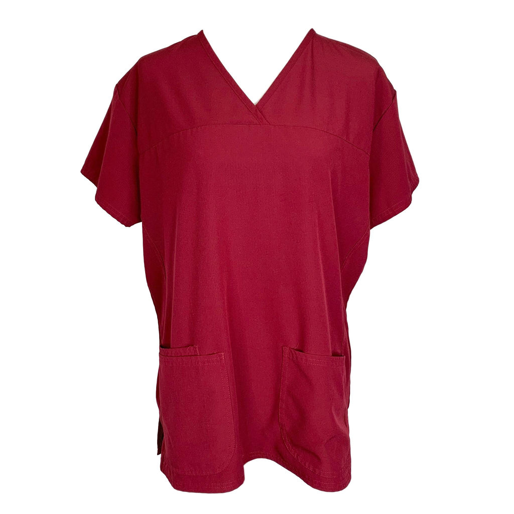 Divine Scrubs by JDM V-Neck Top (5203) >> Burgundy, X-Large