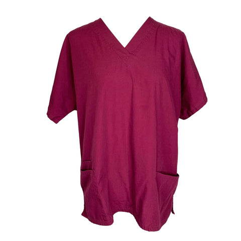 Cherokee Workwear Classic V-Neck (4700) >> Wine, Large