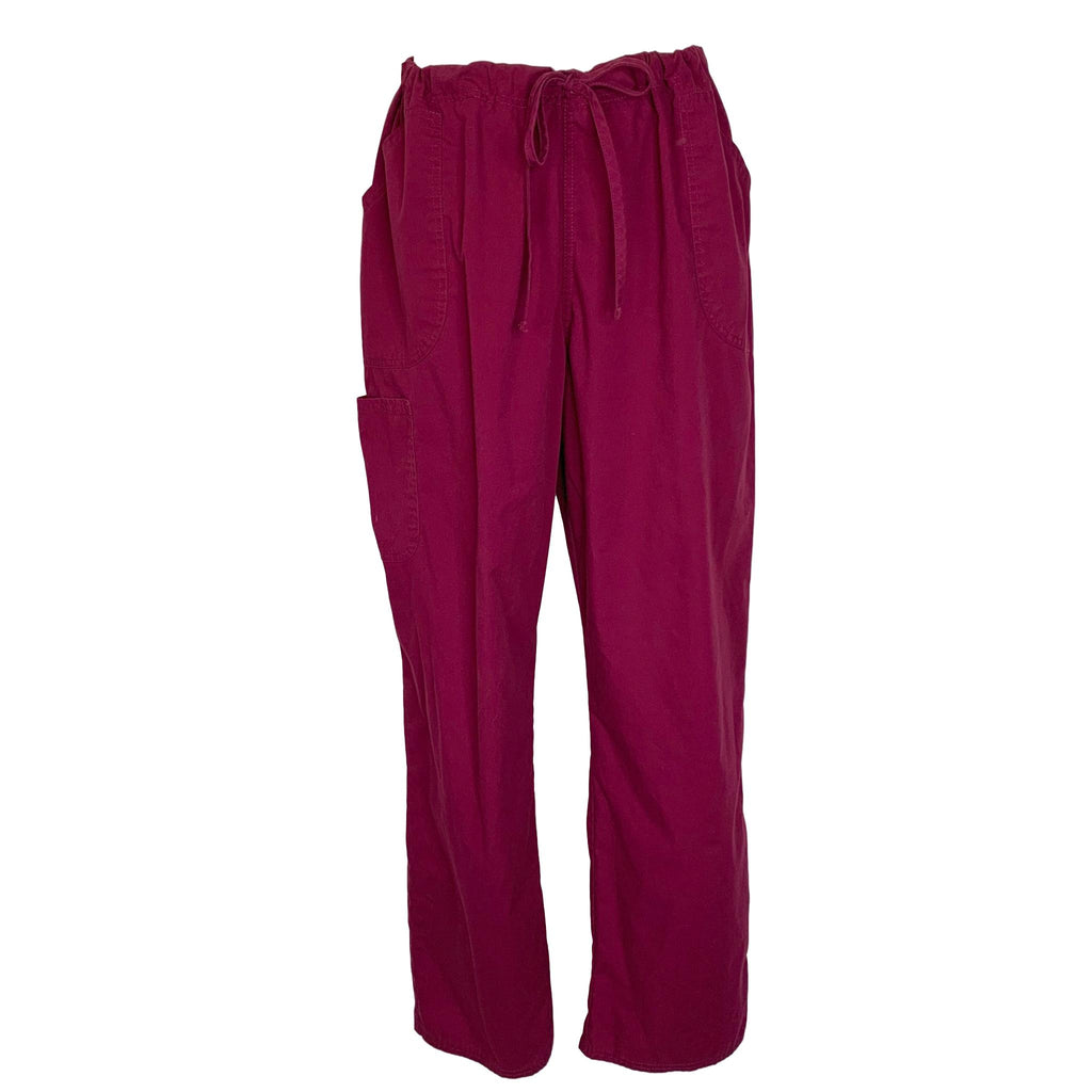 ScrubStar Drawstring Waist Pant (09049) >> Wine, Medium