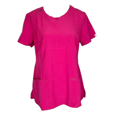 Cherokee Infinity Round Neck Top (2624) >> Power Berry, Small