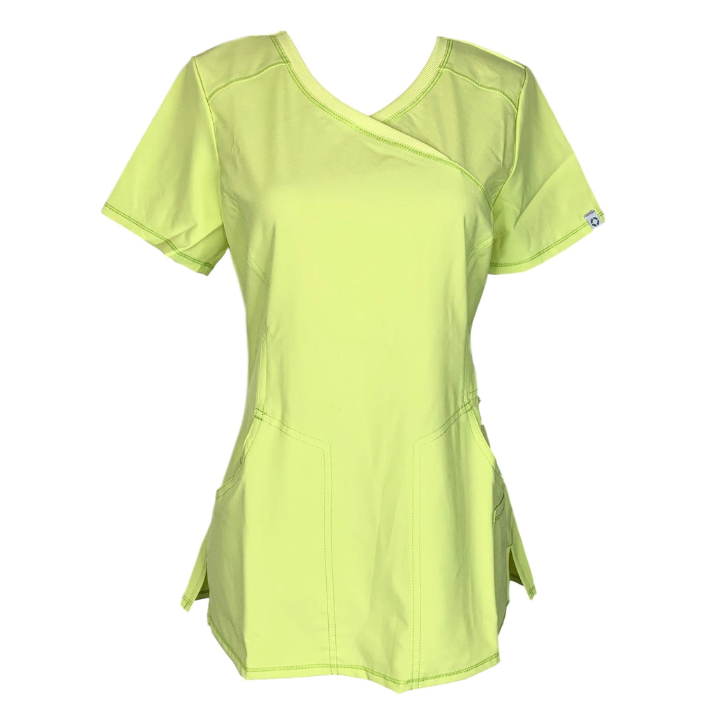 Cherokee Infinity Mock Wrap Antimicrobial Top (2625) >> Citrus, X-Small