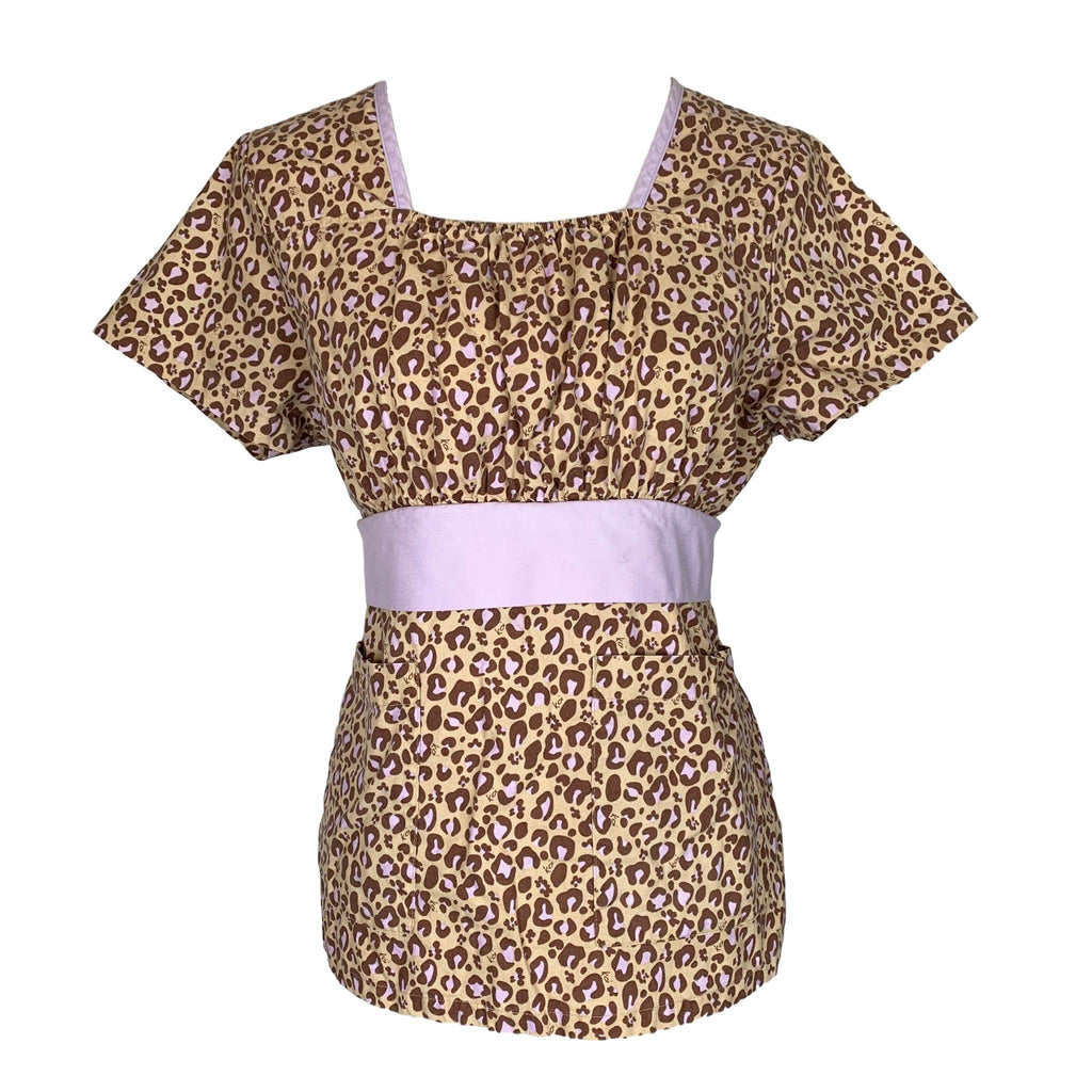 Koi Square Neck Animal Print Top (116) >> Patterned, Medium
