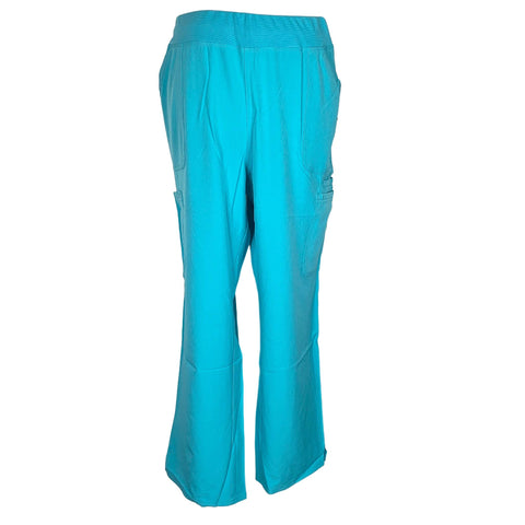 HeartSoul Drawn To Love Low Rise Cargo Pant (020) >> Turquoise, X-Large Petite