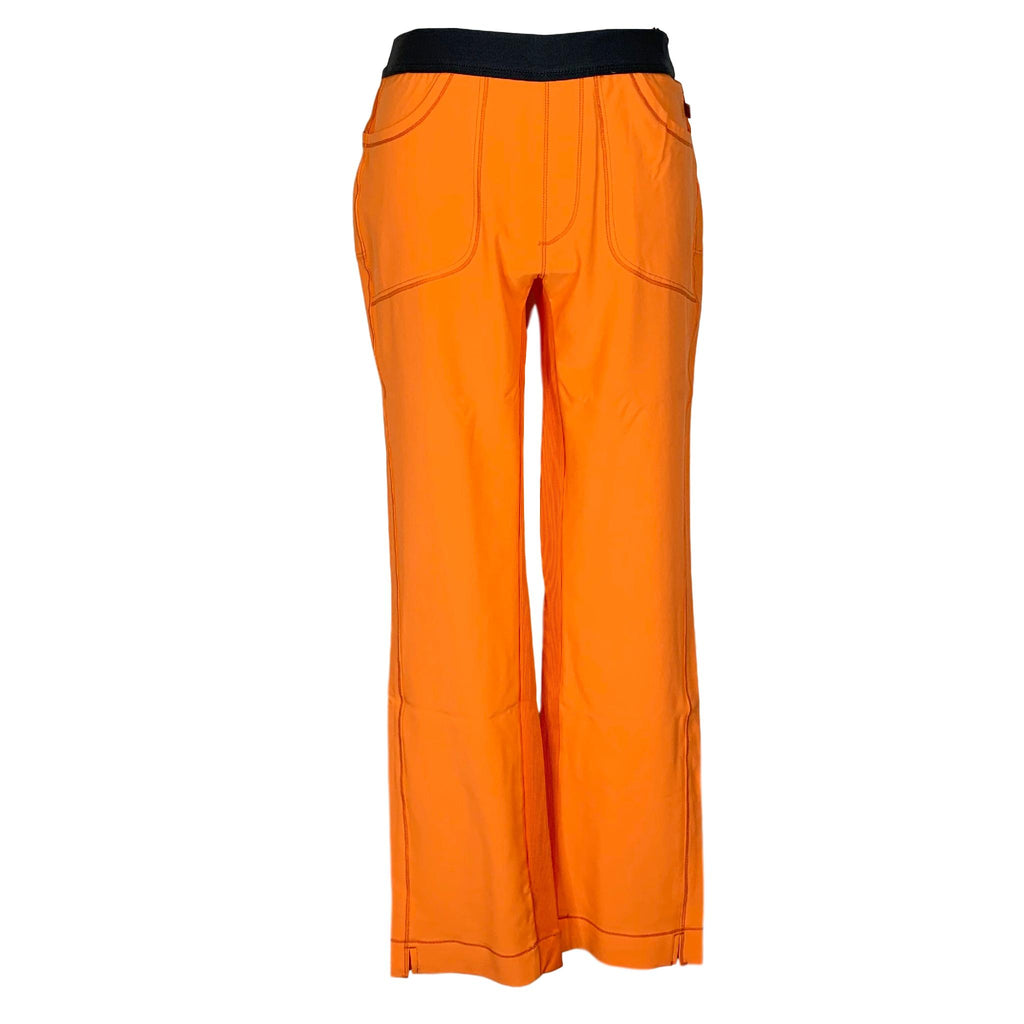 Infinity By Cherokee Low Rise Slim Pull On Pant (1124) >> Orangeade, X-Small