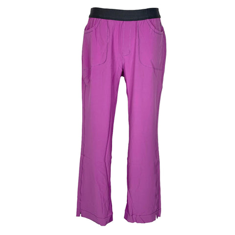Infinity By Cherokee Low Rise Slim Pull On Pant (1124) >> Wild Orchid, Medium