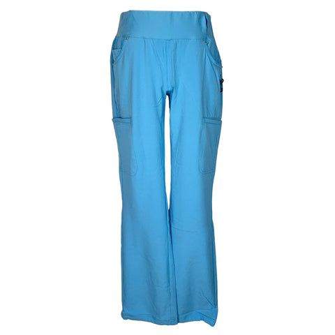 iflex by Cherokee Knit Waistband Pant (002) >> Glacier Blue, Small