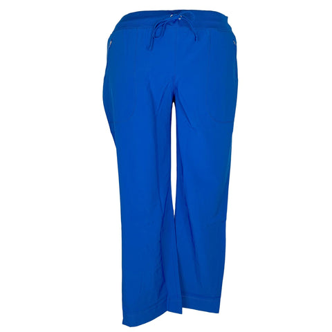 Cherokee Infinity Mid Rise Tapered Leg Drawstring Pant (100) >> Royal Blue, 2X-Large