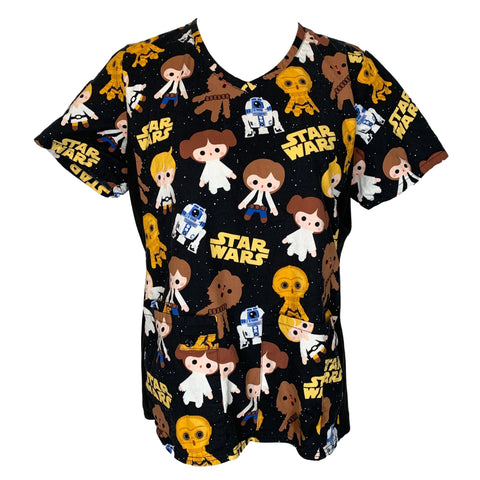 Star Wars V-Neck Print Top (625) >> Patterned, Medium