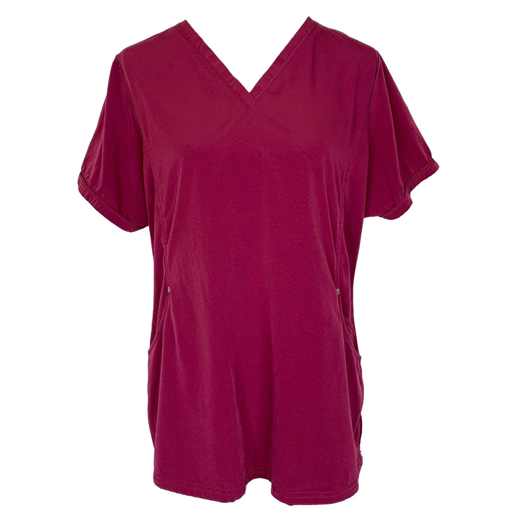 Beyond Scrubs V-Neck Top (2269) >> Wine, X-Large