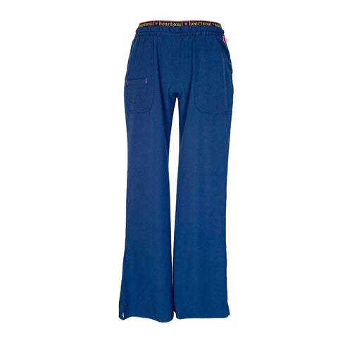 HeartSoul Elastic Waist with Drawstring Pant (20110) >> Navy, X-Small Petite