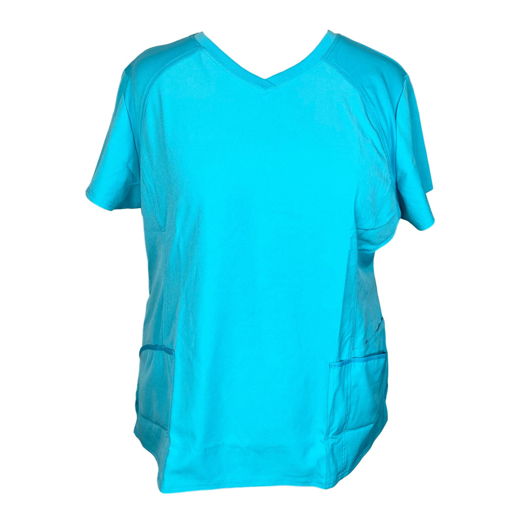 HeartSoul Love 2 Love U V-Neck Solid Top (660) >> Turquoise, 3X-Large
