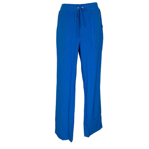 Cherokee Infinity Mid Rise Tapered Leg Drawstring Pant (100) >> Royal Blue, X-Large Tall