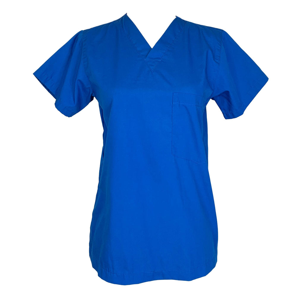 allheart Unisex V-Neck Solid Top (2000) >> Royal Blue, XX-Small