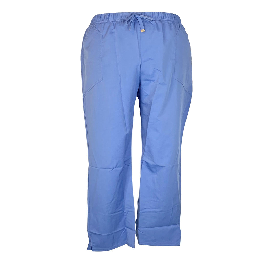 HeartSoul Low-Rise Drawstring Pant (20102) >> Ceil Blue, 3X-Large Petite
