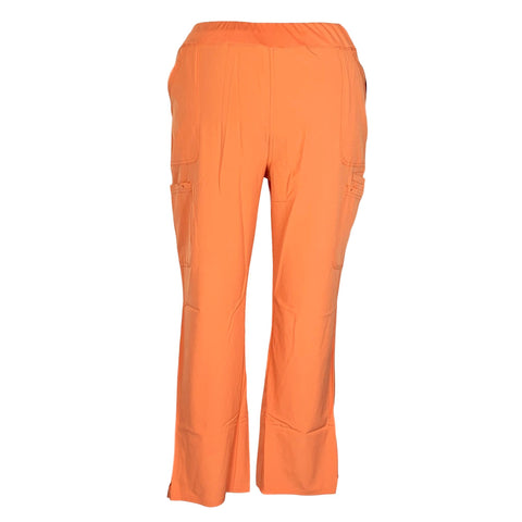 HeartSoul Drawn To Love Low Rise Cargo Pant (020) >> Cantaloupe, 2X-Large