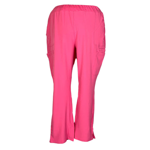 HeartSoul Drawn To Love Low Rise Cargo Pant (020) >> Pink Party, 2X-Large