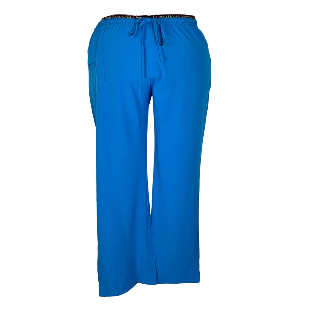 HeartSoul Elastic Waist with Drawstring Pant (20110) >> Blue Bayou, 3X-Large