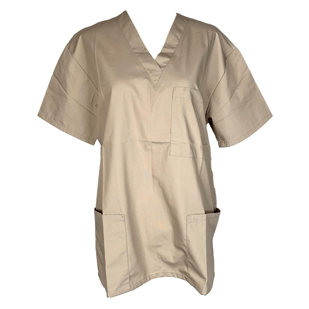Adar Medical Universal Unisex 3-Pocket Tunic Top (601) >> Khaki, X-Small