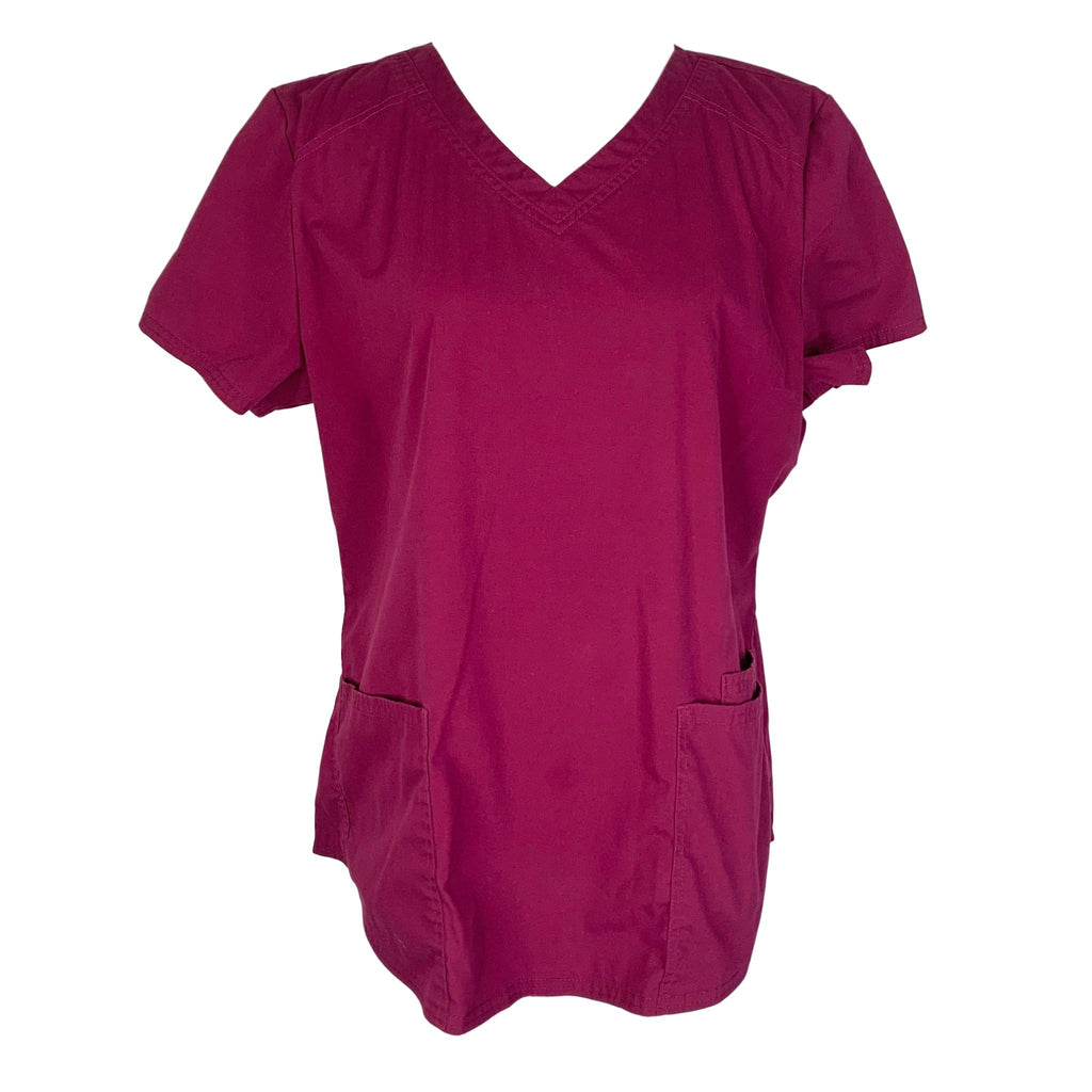 ScrubStar Premium Collection V-Neck Top (9842) >> Wine, Large