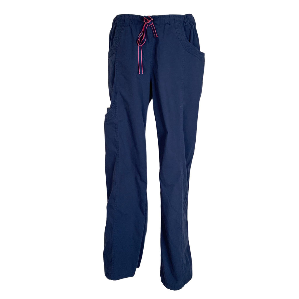 Life Is Peachy Drawstring Waist Pant (7534) >> Navy, Small