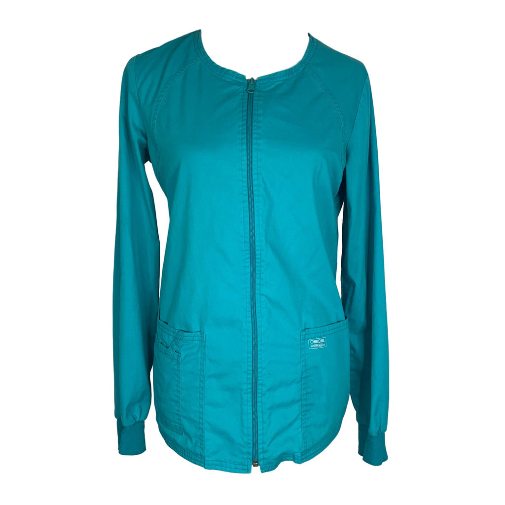 Cherokee Workwear Snap Front Jacket (4350) >> Teal, X-Small