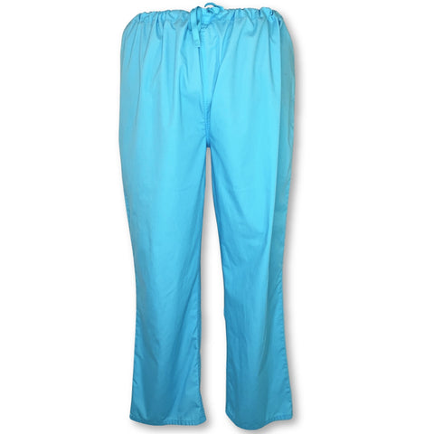 Wal-Mart Unisex Scrub Pants with Pockets >> Turquoise, 2X-Large