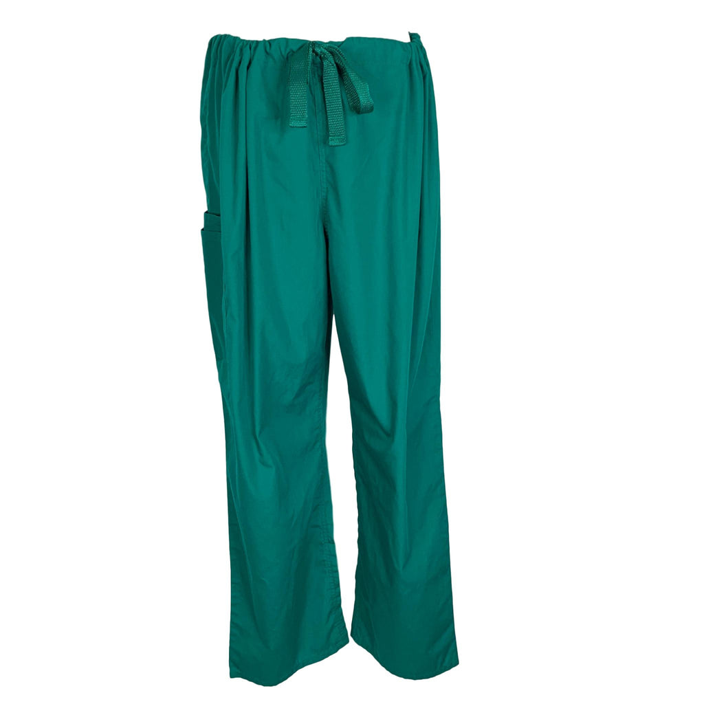 Cherokee Workwear Unisex Drawstring Pant (4100) >> Hunter Green, X-Large