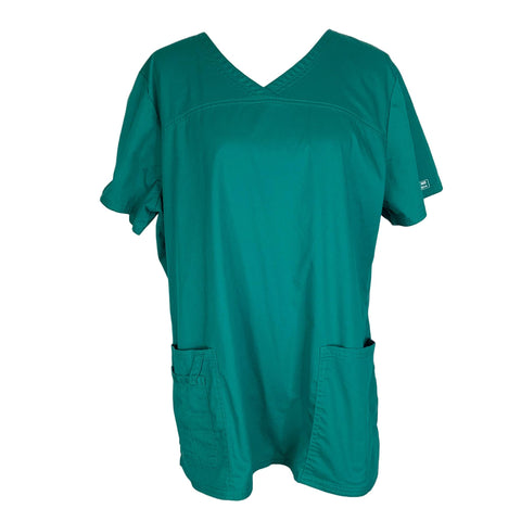 Cherokee Premium Core Stretch Mock Wrap Top (4727) >> Hunter Green, X-Large