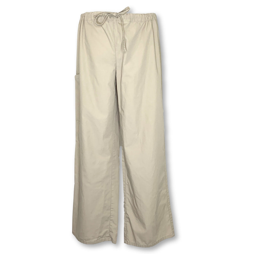 Pure Essentials Drawstring Waist Pant (125) >> Khaki, Small