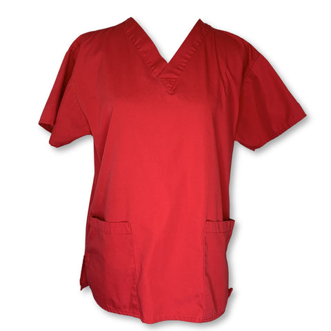 Dickies V-Neck Unisex Top >> Red, Small