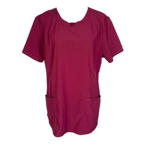 Cherokee Infinity Round Neck Top (2624) >> Wine, X-Large