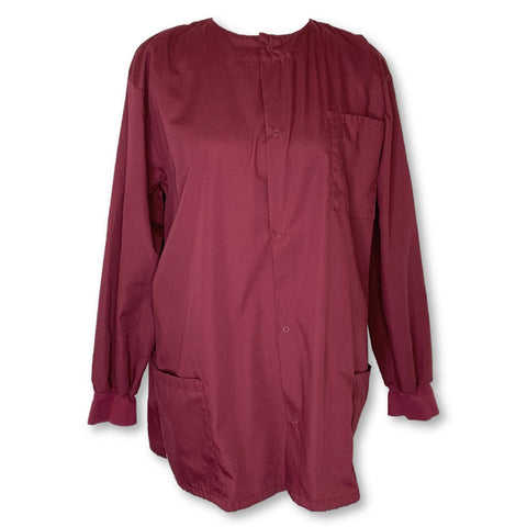 Natural Uniforms Snap Button Jacket >> Maroon, Large