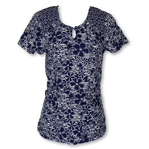 Koi Round Neck Print Top (195) >> Patterned, X-Small