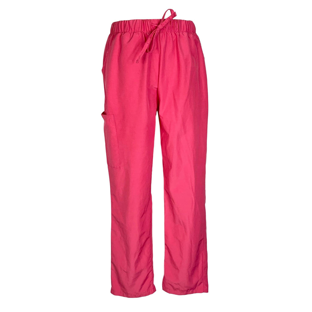 Smiles & Scrubs Drawstring Waist Cargo Pant >> Hot Pink, Medium