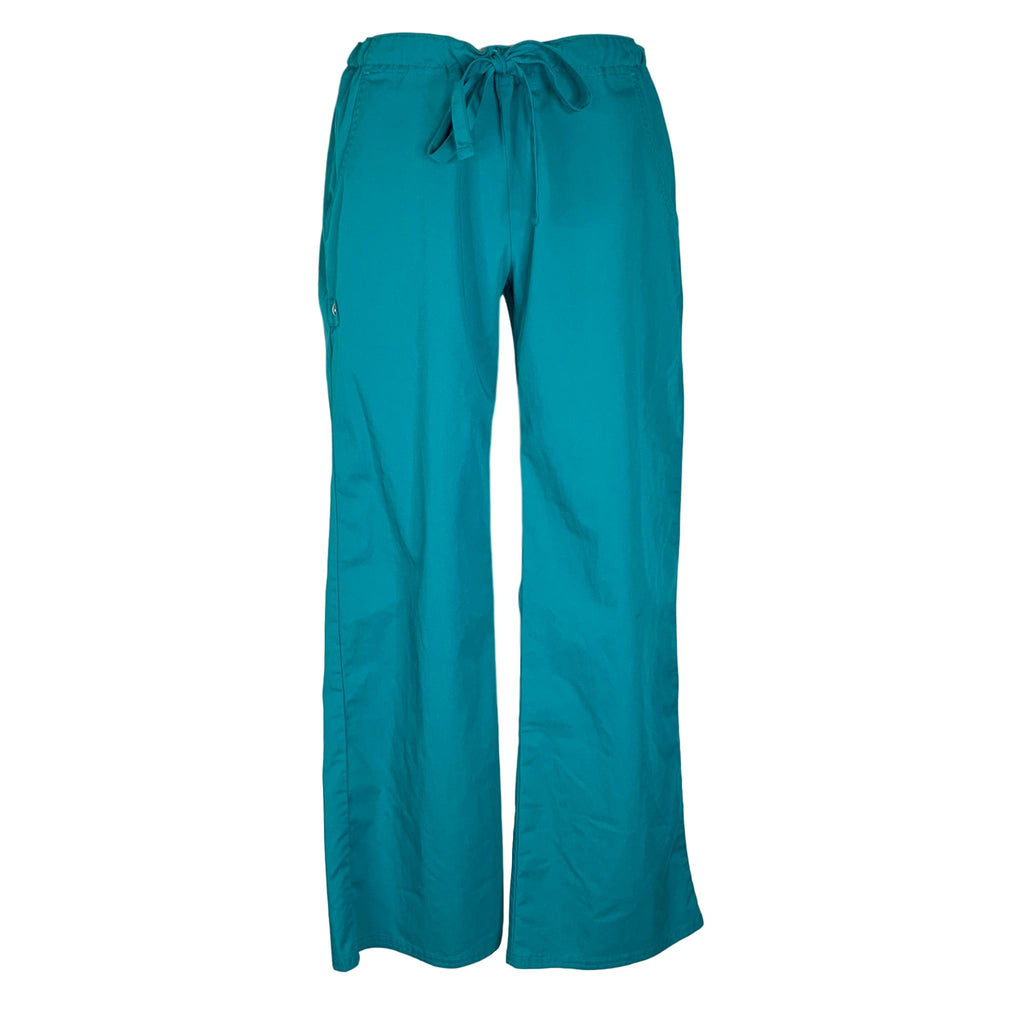 Cherokee Luxe Low Rise Drawstring Pant (1066) >> Teal, X-Small Petite