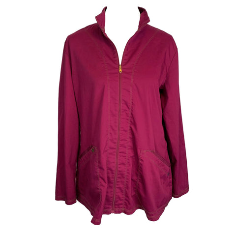 Dickies Essence Warm-up Jacket (302) >> Wine, Large
