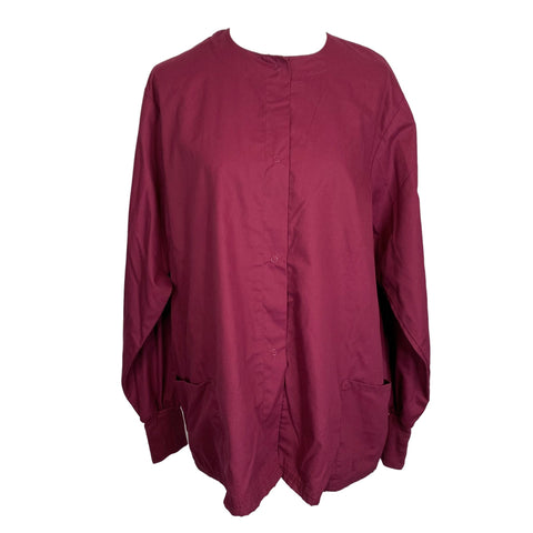 Butter-Soft Front Snap Jacket (82) >> Wine, X-Large