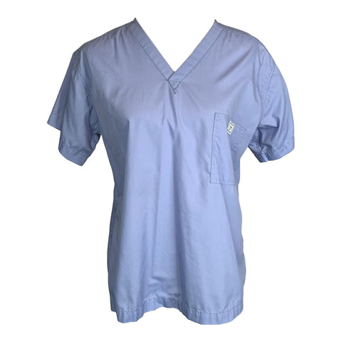 Blue Sky Scrubs Classic Simple Top >> Ceil Blue, Large