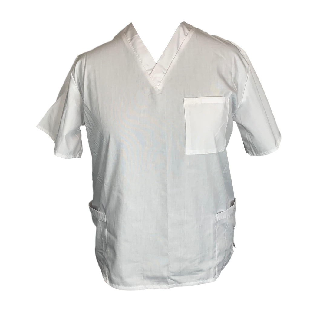 M&M Scrubs V-Neck Top (102) >> White, X-Large