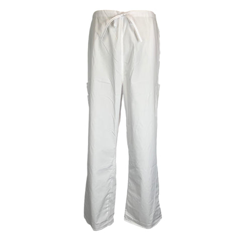 M&M Unisex Double Cargo Pant >> White, X-Large