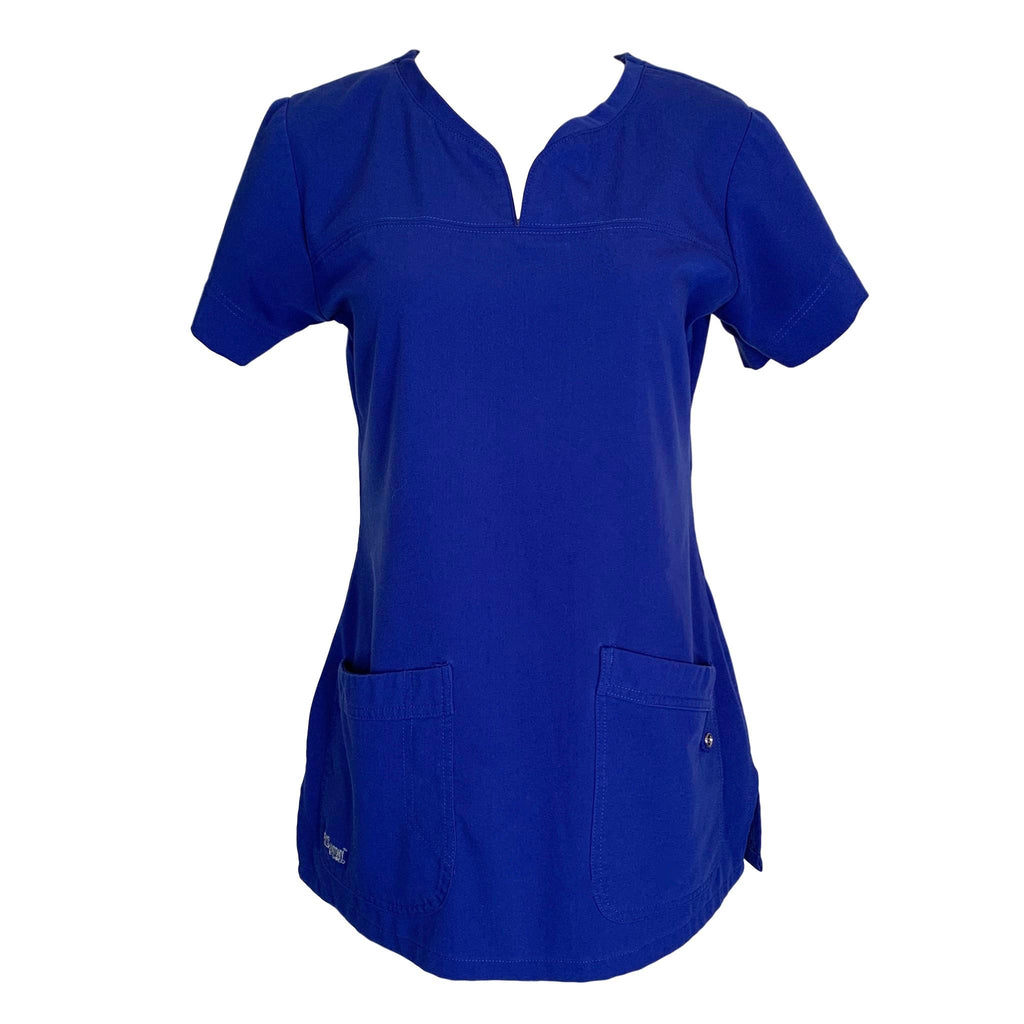Grey's Anatomy Scrubs Signature Modern Fit Two Pocket Top (2121) >> Galaxy Blue, X-Small
