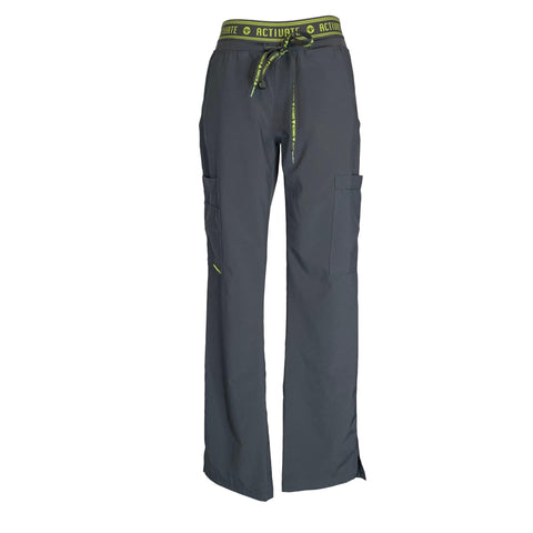 Activate by Med Couture Flow Cargo Pants (8758) >> Pewter, X-Small