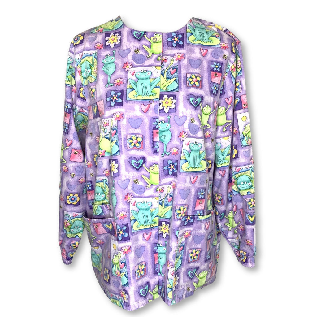 Scrub H.Q. Frog Print Jacket (4350) >> Patterned, Small