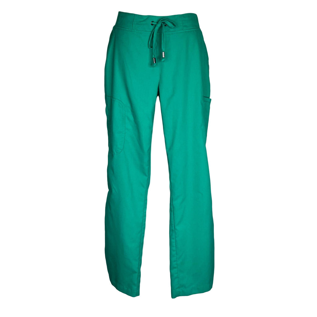 Grey's Anatomy Destination 6 Pocket Cargo Pant (4277) >> Kelly Green, Small Petite