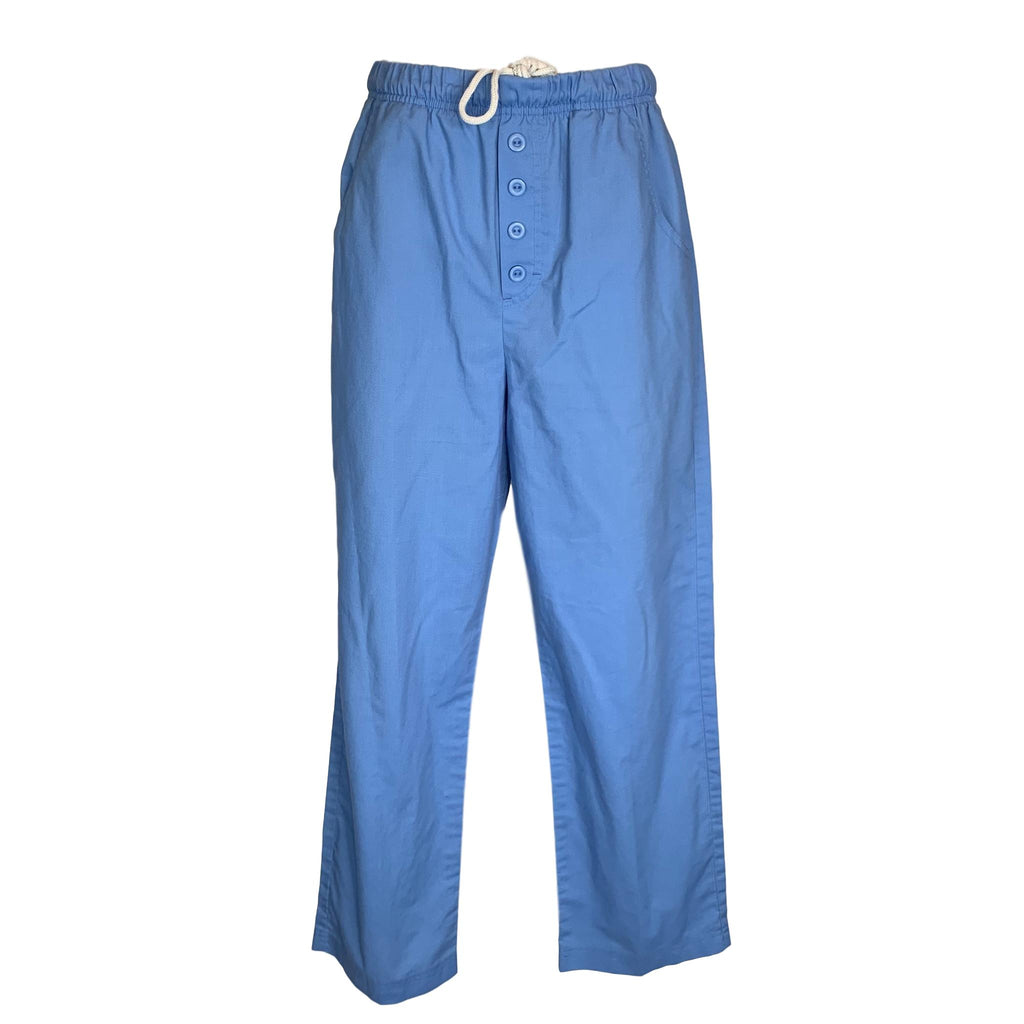 Vlife Drawstring Waist Pant (9223) >> Ceil Blue, Medium Petite