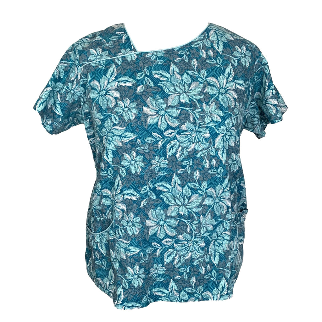 Uniform Advantage Flower Print Top (658) >> Patterned, 2X-Large