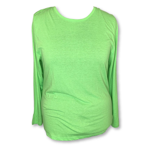 Adar Comfort Long Sleeve Underscrub T-Shirt (2900) >> Neon Lime Green, 3X-Large