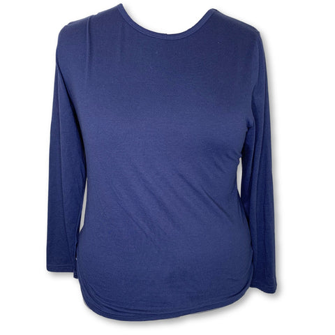 Adar Comfort Long Sleeve Underscrub T-Shirt (2900) >> Navy, 3X-Large