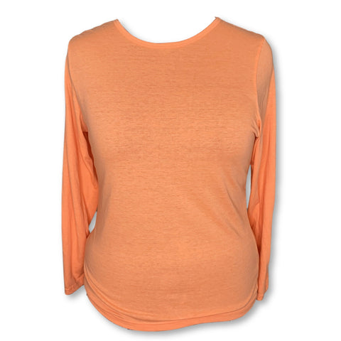 Adar Comfort Long Sleeve Underscrub T-Shirt (2900) >> Neon Orange, 3X-Large