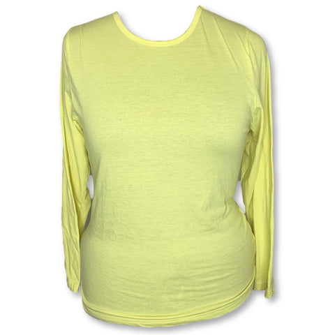 Adar Comfort Long Sleeve Underscrub T-Shirt (2900) >> Citron, 3X-Large